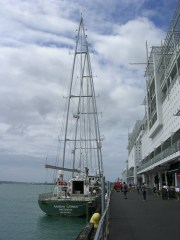 Rainbow Warrior at Princes Wharf Auckland