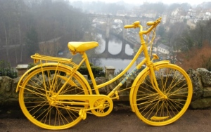 yellow bicycle 2