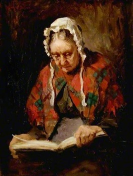 Old Lady Reading by Cowan Dobson