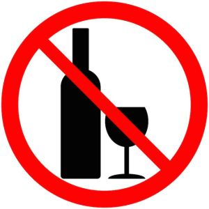 No alcohol sign on white background - vector illustration.